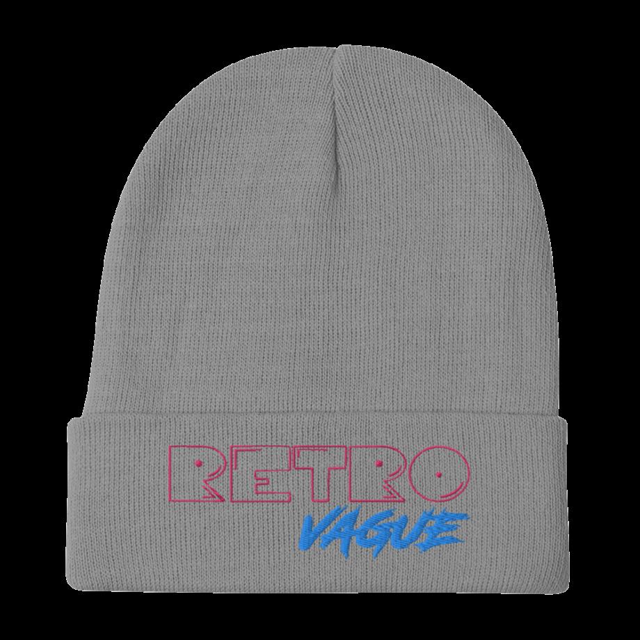 Retro Neon Embroidered Beanie