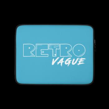 Retro Surf Blue Laptop Sleeve