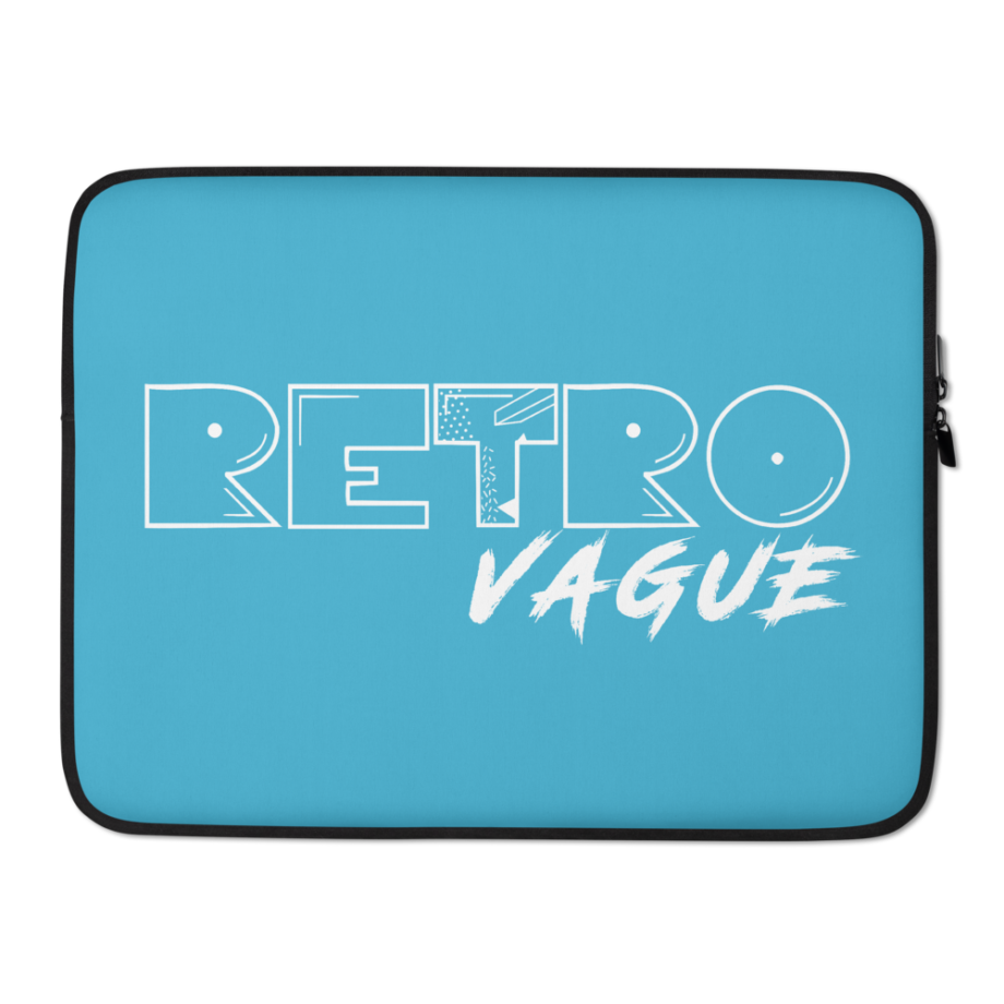 Retro Surf Blue Laptop Sleeve