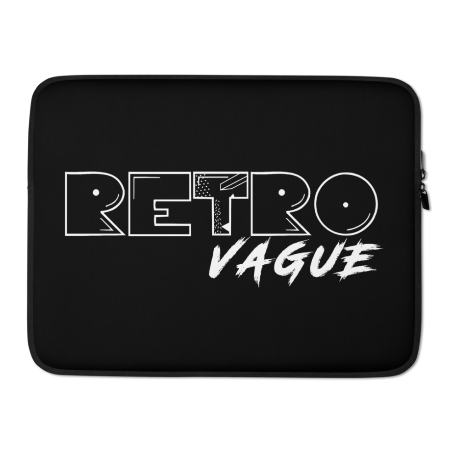Retro Midnight Black Laptop Sleeve