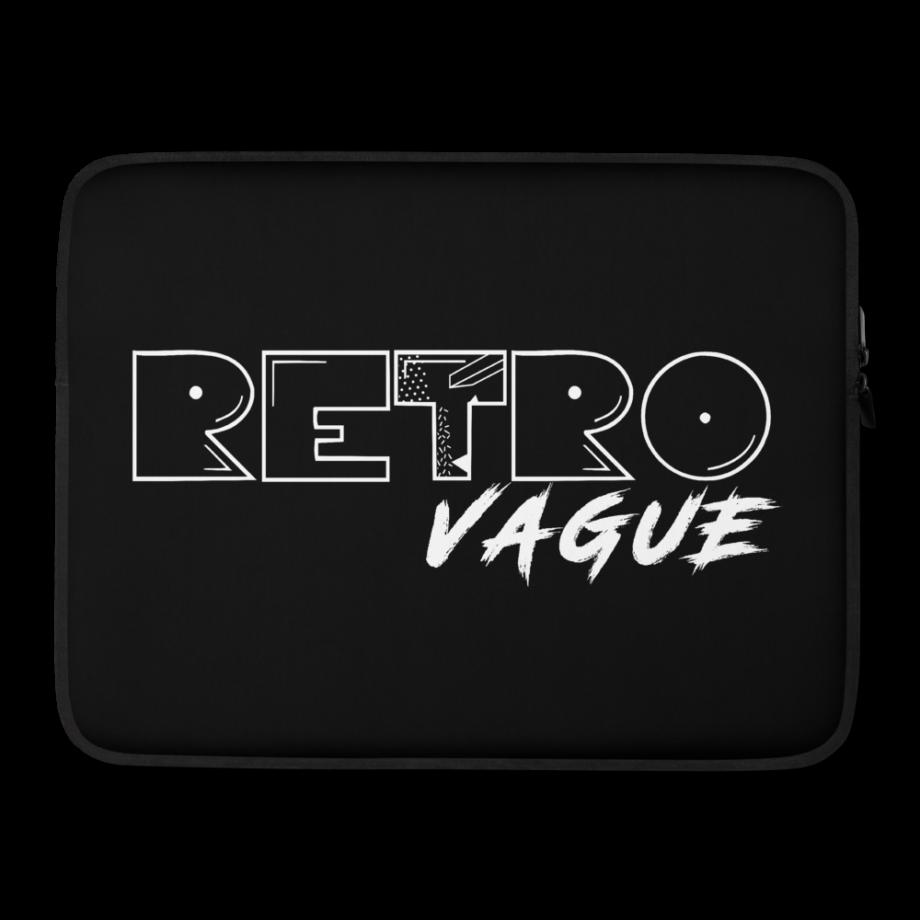 Retro Midnight Black Laptop Sleeve