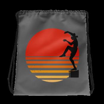 Crane Technique Drawstring Bag