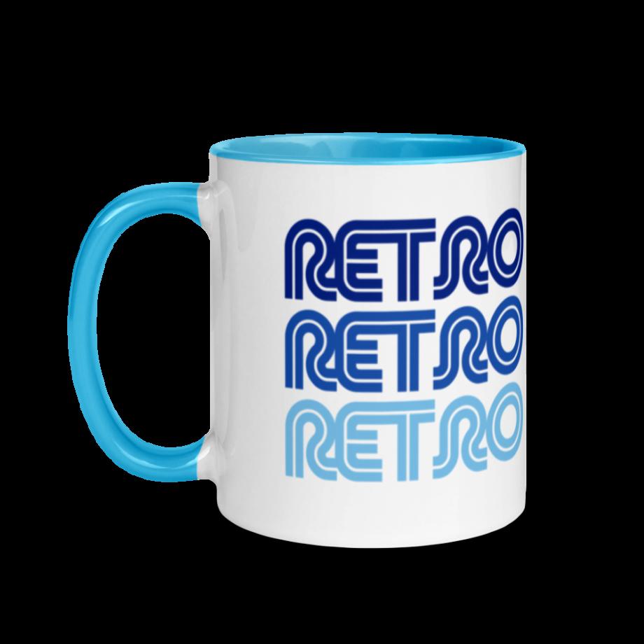Stacked Blue Retro Mug